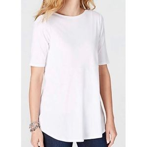 J. Jill Pima Cotton Boat Neck Tee